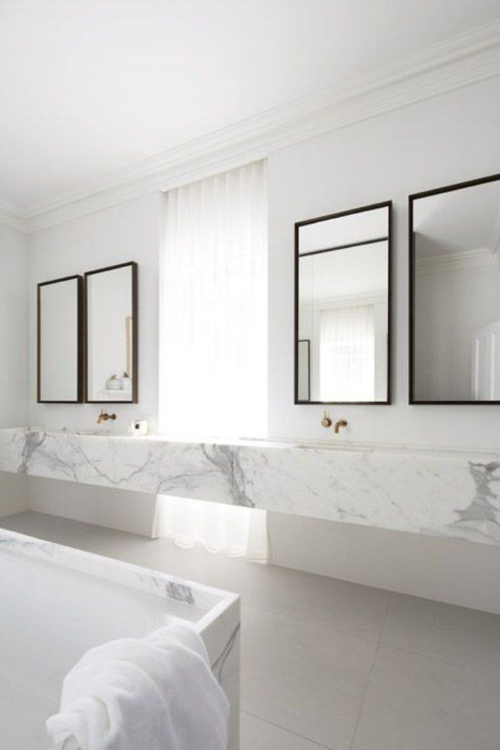 Les 10 meilleures idées de la catégorie Salles de bains blanches ...