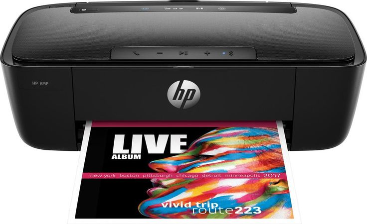 HP - AMP 100 Wireless Instant Ink Ready Printer with Bluetooth Speaker