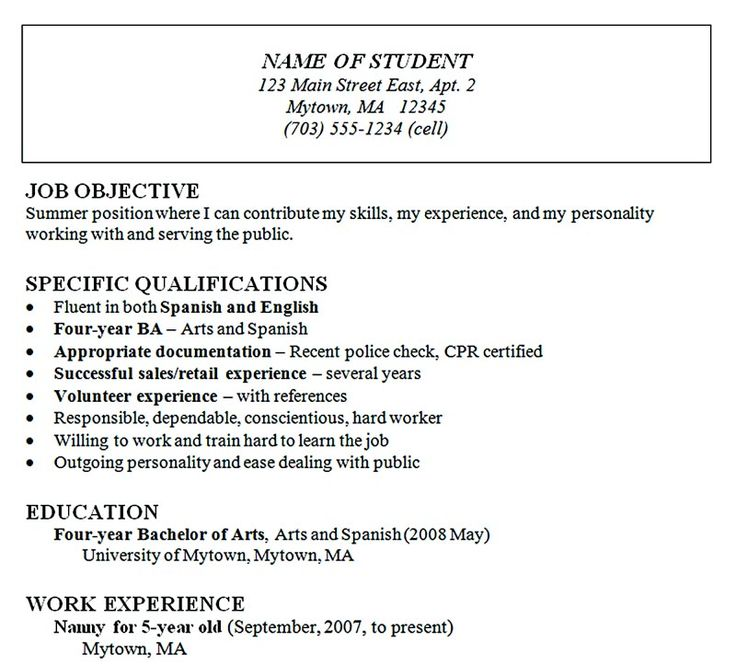 Nice Looking Generic Resume Template  Resume Chronological