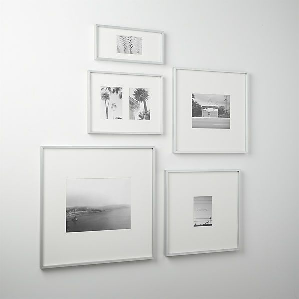 gallery brushed silver picture frames  | CB2