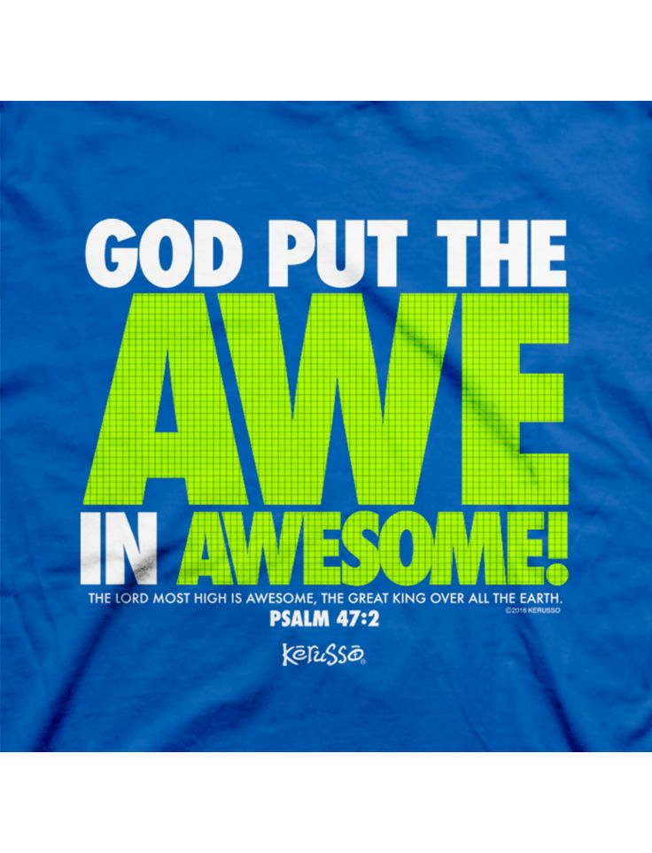 God Put the Awe in Awesome | Kerusso Kids Christian T-Shirt | Youth Sizes | Free U.S. Shipping