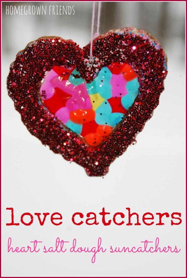 Heart Salt Dough Suncatchers