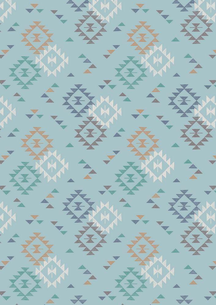 A173.2 - Triangle Print On Light Blue