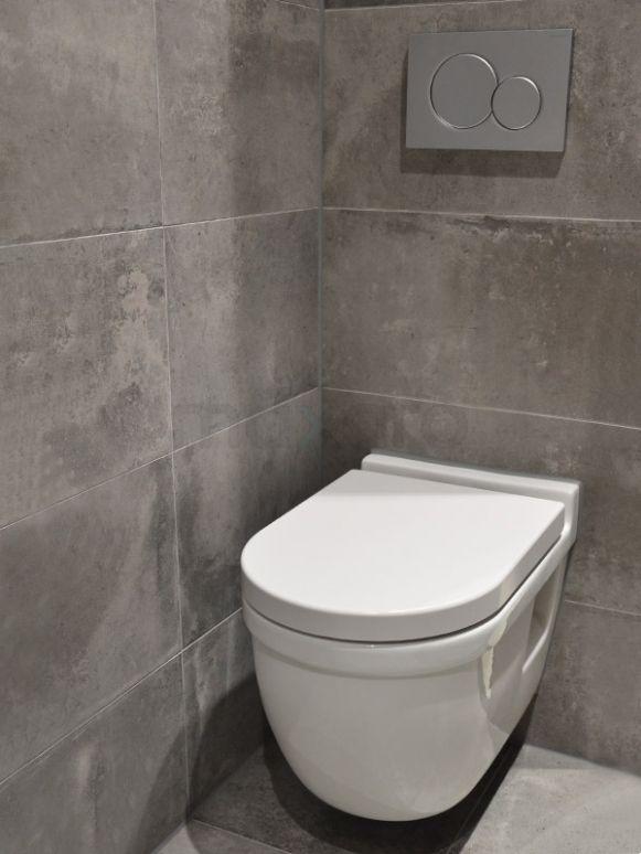 Betonlook toilet, betonlook tegels, cire