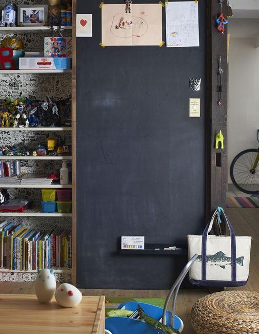 chic chalkboard wall
