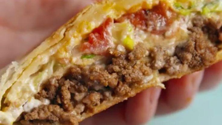 Tortilla Crunch Wrapit ovat parasta pitkään aikaan! Copyright: Kuvakaappaus: Delish.