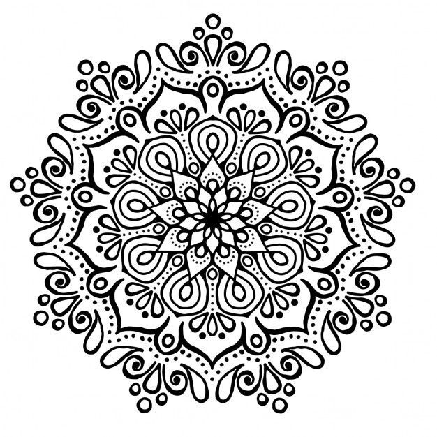 Mandala Ausmalbilder Zum Drucken Mandala Blumen Mandala Blumen Tattoo Mandala Zum Ausdrucken