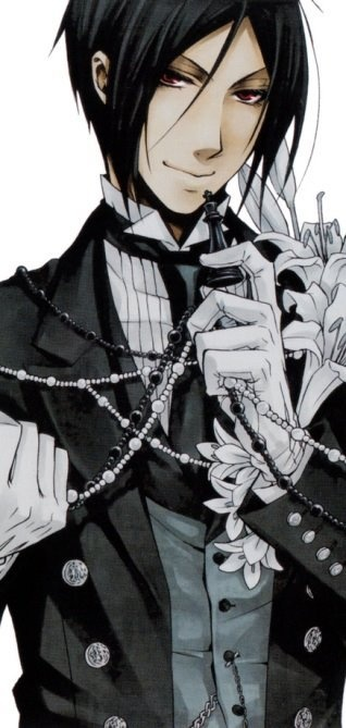 Black Butler ♥♥♥♥ (LOVE Sebastian!) In Victorian London, 12-year-old business magnate Ciel Phantomhive thwarts dangers to the queen as he's watched over by his demon butler, Sebastian. In exchange for Ciel's soul, Sebastian will help him track down the villains who killed his parents.