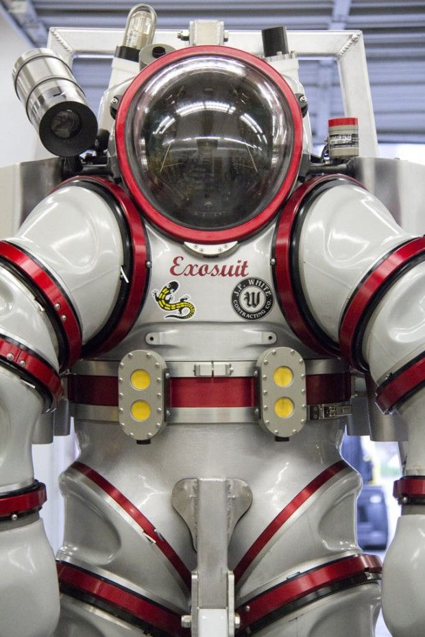 2012: Nuytco Research Ltd. unveils the Exosuit, the next generation of Atmospheric Diving Suit (ADS). ADS allows diving at depth at only one atmosphere pressure.