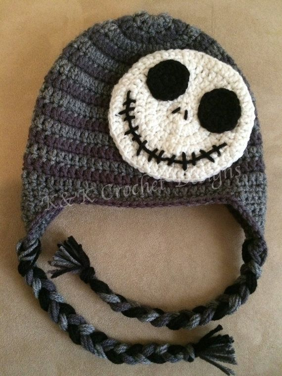 Jack Skellington Hat Knitting Pattern : Jack Skellington Inspired Crochet Hat / The by KKCrochetDesigns Crochet P...