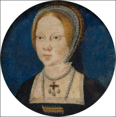 Mary Tudor (1516-1558) Daughter of Henry VIII and Catherine of Aragon. Wife to Philip II of Spain. This portrait is of Mary as a child, c. 1525