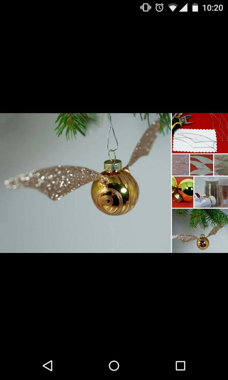 Boccino d'oro Harry Potter decorazione natalizia