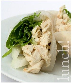 Thai Green Curry Chicken Summer Rolls