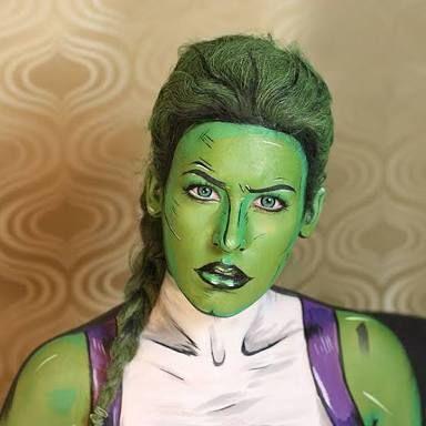 Resultado de imagem para she hulk makeup