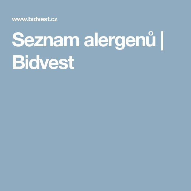 Seznam alergenů   Bidvest