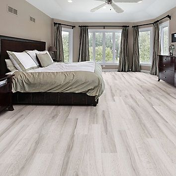 Allure Locking 7.5 in. x 47.6 in. White Maple Resilient Vinyl Plank Flooring (19.8 sq. ft./case) | The Home Depot Canada