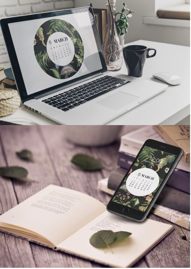 MARCH 2017 WALLPAPERS ARE HERE - By: Chloe - march, calendar, wallpaper, design, design inspiration, floral, green, natural, 2017, desktop, desktop wallpaper, iPhone, iPhone Wallpaper, iPhone 6, iPhone 7, graphic, bychloe