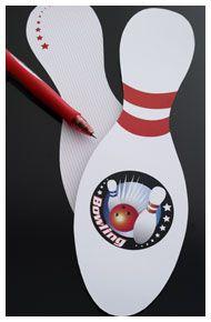 Inbjudningskort till Bowlingkalas http://www.dansukker.se/se/inspiration/barnkalas/bowlingkalas/pyssel-och-lekar.aspx #barnkalas