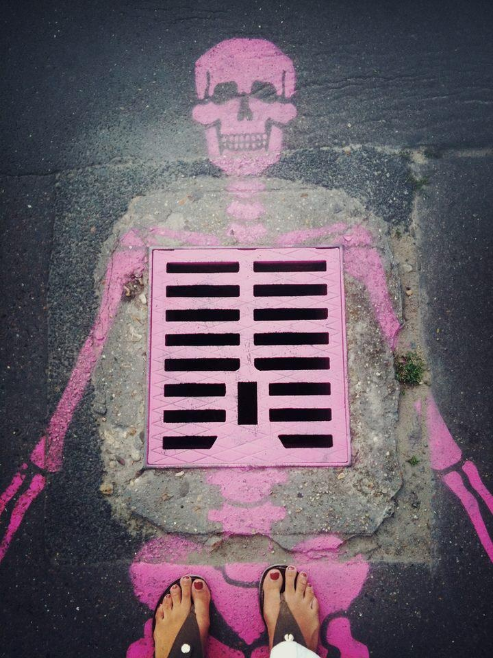 Urban pink skull style!