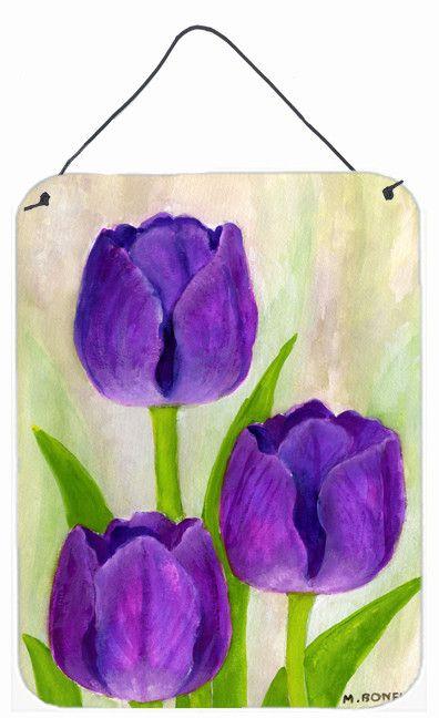Purple Tulips by Maureen Bonfield Hanging Aluminum Painting Print