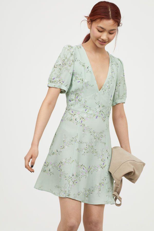 Image result for light green floral dresses