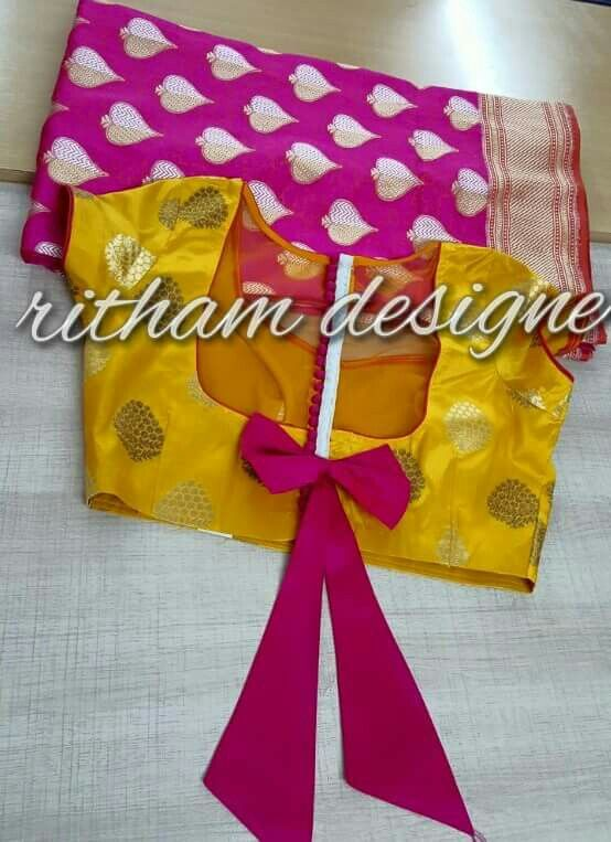 bow on back blouse