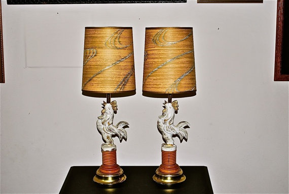 Which Came FirstA Happy Pair of Funky Chicken Cafe by GladysGlover, $53.00