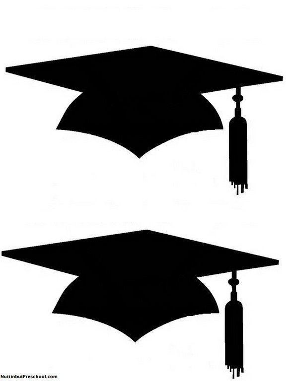 Printable Graduation Cap Pattern for Bulletin Board - #board #bulletin #graduation #pattern #printable -