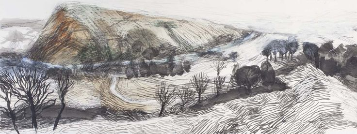 """""""The Path"""" by Eleri Mills RCA (mixed media on paper)"""