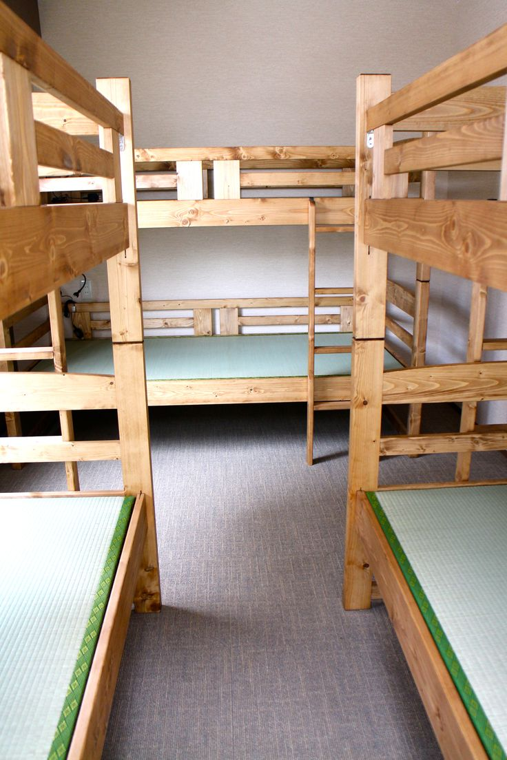 Room Hasu, is on 3rd floor and 6 people can sleep. It has a balcony so you can hang your laundries.