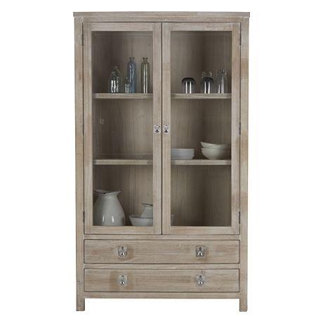 Freedom Furniture Cancun Display Cabinet White Wash