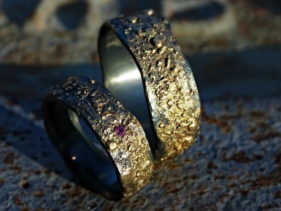 Viking wedding rings Wedding ring set Engagement ring Bridal rings set Viking wedding band Wedding band set Celtic ring women