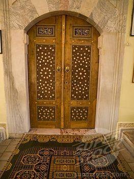 Turkish pattern on door possibly Kusadasi