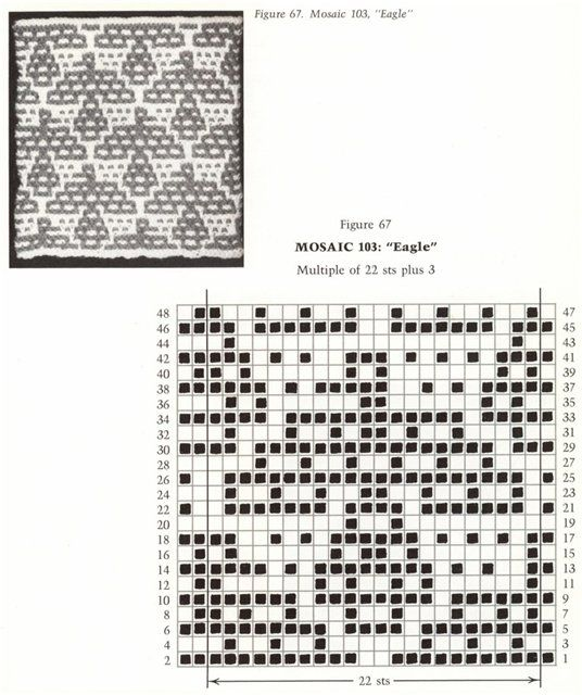 64 best Mosaic Knitting Charts images on Pinterest
