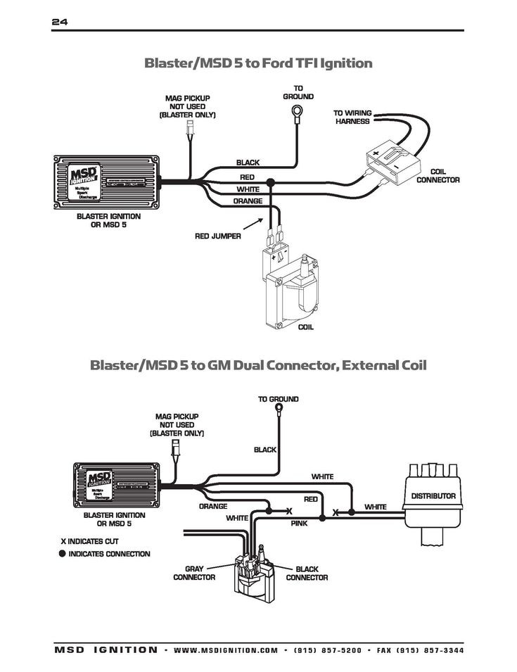Ignition Coil Distributor Wiring, Coil Wiring Diagram Ford