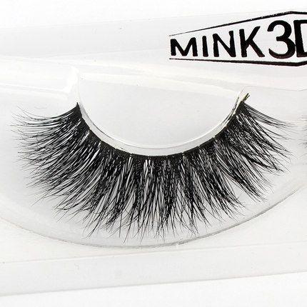 2016 Baru 1 pair 3D mink bulu mata 100% bulu asli Bulu Handmade Crossing lashes individu strip tebal Alami lash makeup beuty alat