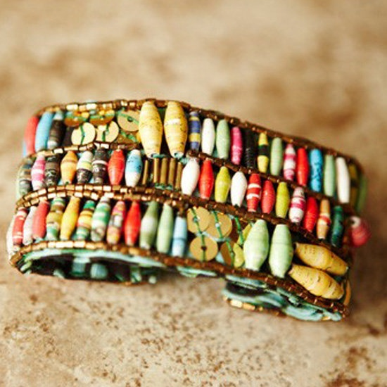 """31 Bits """"87"""" Cuff...made from recycled paper by Ugandan women who in turn receives education, vocational training and much more"""