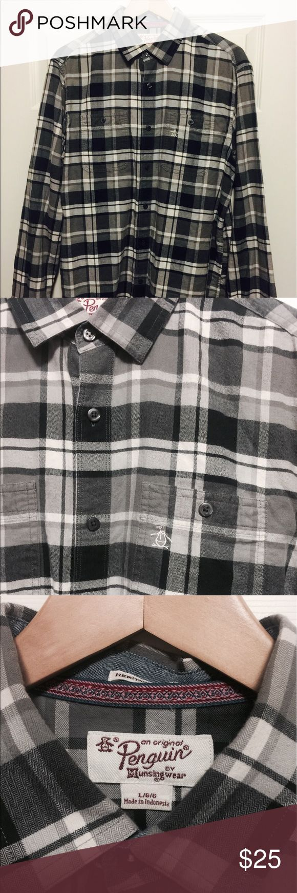 Original penguin casual button down shirt Gently used and clean. Very soft and comfortable. Heritage Slim Fit Original Penguin Shirts Casual Button Down Shirts