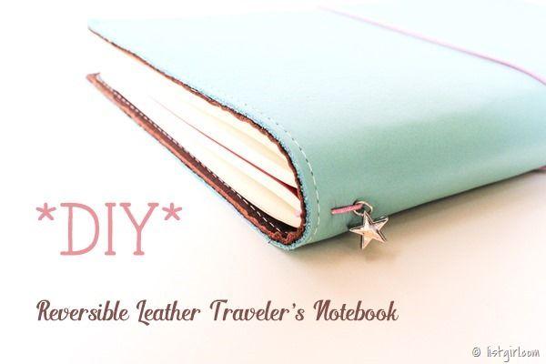 Tutorial | DIY Reversible Leather Traveler's Notebook