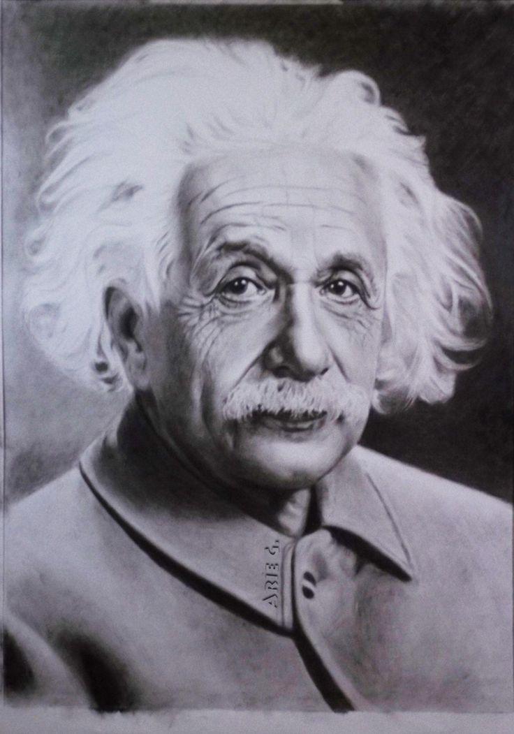 Albert Einstein, a very very smart scientist. I paint him using dry brush technique