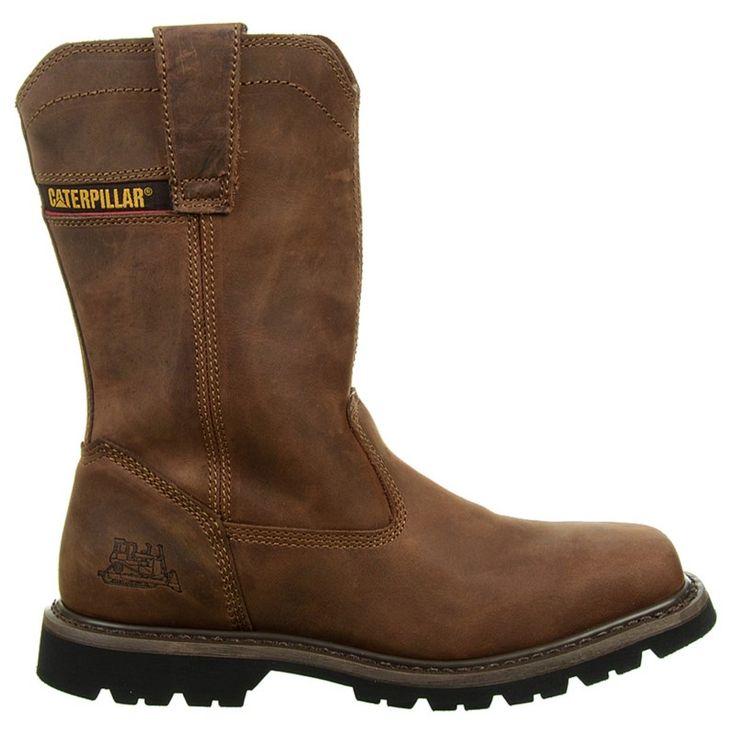 Caterpillar Men's Wellston Medium/Wide Pull On Work Boots (Dark Brown) - 13.0 W