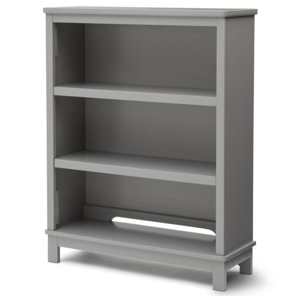 Delta Children Universal 3 Shelf Gray Bookcase 76300 026 The