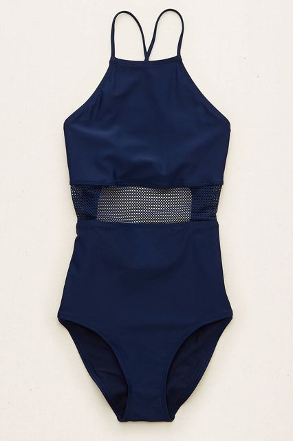 "Your Spring Break Packing List, Solved #refinery29 http://www.refinery29.com/spring-break-basics-packing-list#slide-1 A sleek, one-piece swimsuit works in the water and beyond. Wear it solo on the beach, and let it double as a bodysuit come evening when paired with skirts, shorts, and flowy pants.Aerie Mesh One-piece Swimsuit, $44.95, available at <a href=""https://www.ae.com/women-aerie-mesh-one-piece-swimsuit-navy/aerie/s-prod/0751_8974_410?cm=sUS-cUSD&catId=womens&origProdId=075...."