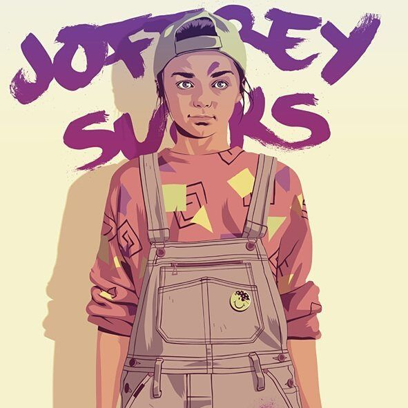 Arya don't play! By Mike Wrobel . . . . . #gameofthrones #aryastark #arya #stark #got #design #illustration #joffrey #sucks #graphicdesign #software #programming #coding #coder #hbo #series #html #js #css #java #python #ui #ux