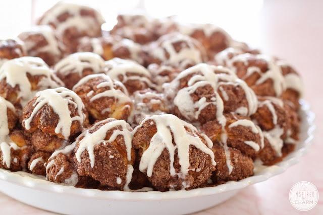 Year of Yeast: Cinnamon Bun Bites | dessert/snacks | Pinterest
