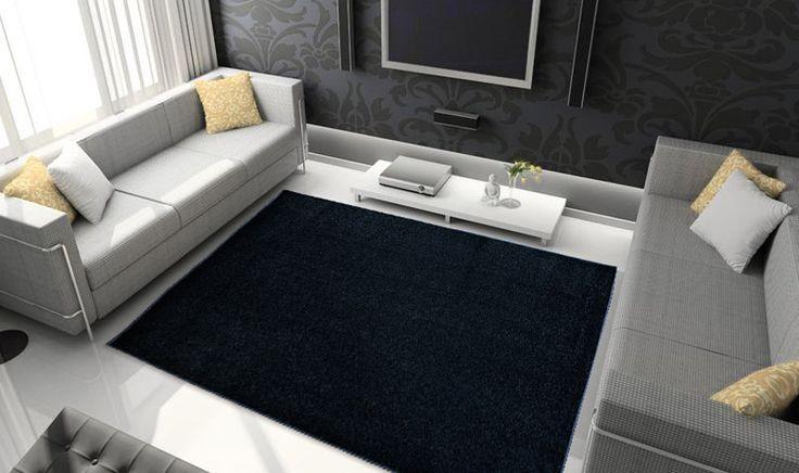 Elegante tappeto nero AV NERO 45