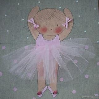 Cuadro infantil personalizado bailarina rosa