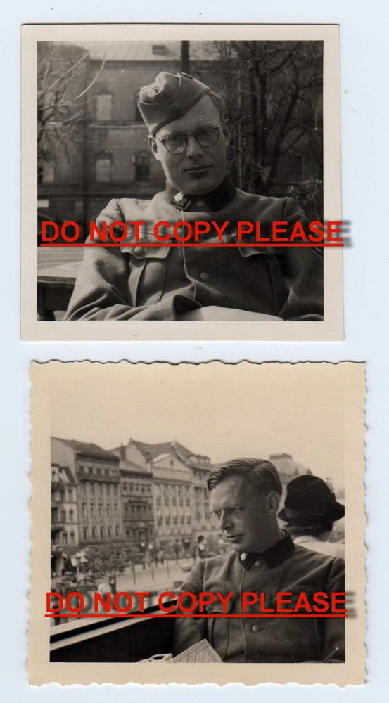 TWO ORIGINAL PHOTOS OF TOTENKOPF ELITE SOLDIER- Camp Guard?