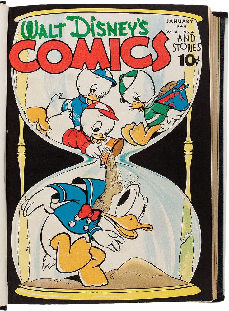 Walt Disney's Comics and Stories #40-51 Bound Volume Signed by | Lot #93427 | Heritage Auctions