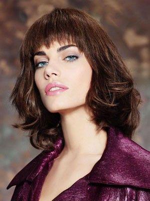 Perruque cheveux naturels capless mi-longue belle ondulée - Photo 1